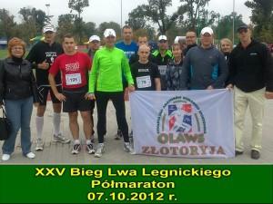 półmaraton w ramach jubileuszowego XXV Biegu Lwa Legnickiego